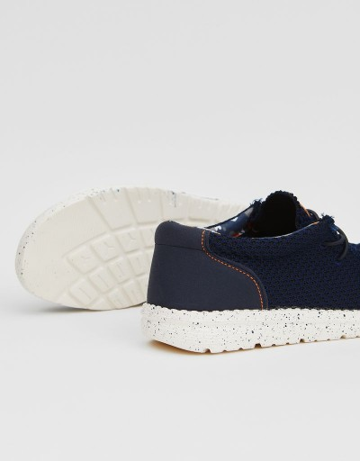 Zapato Wallabee Wallance Azul Marino
