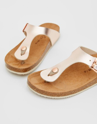 Rose Gold Laundry Bio Sandal