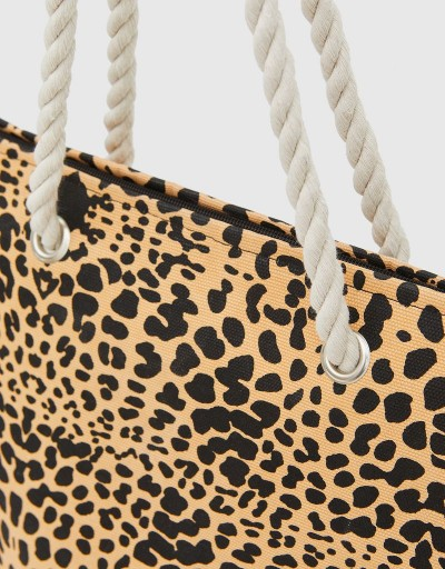 Leopard Sofian Beach Bag