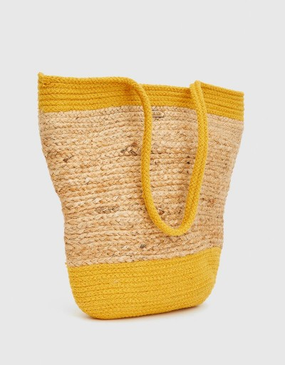 Safi Tote Bag Beige and Yellow