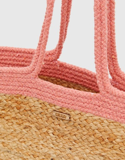 Safi Tote Bag Beige and Coral