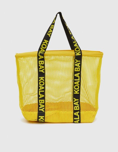Yellow Martina Shopping Bag