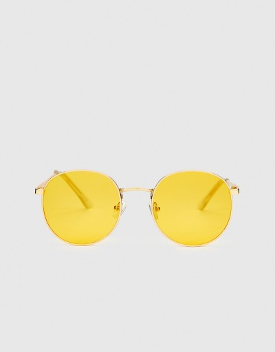 Yellow Round Palaui Sunglasses