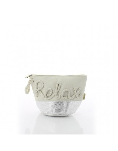 Silver Relax Make Up Bag