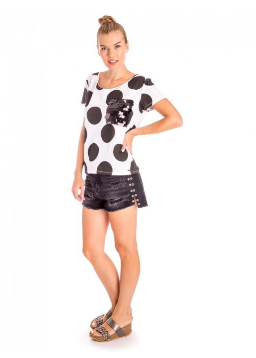 Camiseta Maxi Dots Blanco